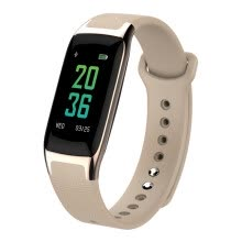 -Magic faction MOONPI smart bracelet B11 color screen touch heart rate blood pressure sleep monitor large screen WeChat content display call remind multiple sports mode champagne gold on JD
