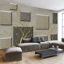 -Custom 3D Wallpaper Murals Modern Simple Abstract Tree Branches 3D Living Room Sofa TV Background Wall Painting Mural Home Decor on JD