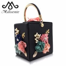 875062576-Milisente Flower Women Handbag Wedding Clutch Ladies Evening Bag Blue Handbags Day Clutches on JD