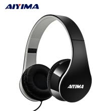 -AIYIMA Headphones Gaming Headset 3.5mm Foldable Sport Earphone Audifonos HIFI Stereo Sound Music Portable speaker on JD