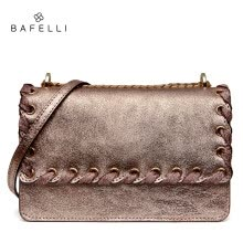 -BAFELLI new arrival split leather bag rose gold bolsos mujer fashion ribbons crossbody bag hot sale women messenger bags on JD