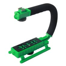 875072536-YELANGU S2-5 YLG0106B-E C-shaped Video Handle DV Bracket Stabilizer for All SLR Cameras and Home DV Camera(Green) on JD