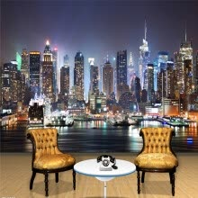 -Custom 3D Photo Wallpaper New York City Night Wall Painting Art Mural Wallpaper Living Room TV Background Wall Papers Home Decor on JD