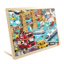 -TOI Wooden Jigsaw Puzzle with Storage tray (24/48/80/100pcs) for kids on JD