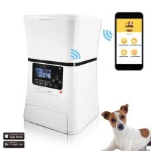 87502-Automatic Pet Feeder, Smart Programmable Food Dispenser for Dog & Cat. For Dry & Wet Food. With IOS & Android APP, 6 lb Capacity on JD