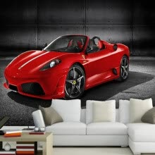 -Custom 3D Photo Wallpaper Red Car Picture Wall Mural Kids Bedroom Sofa Wall Decoration 3D Non-woven Wall Paper Wallcoverings on JD
