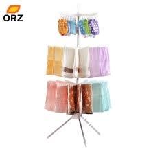 8750212-ORZ Clothes Drying Rack Folding Laundry Hanger 3-Layer Clothing Organizer For Garment Pants Towel Underware Storage Holder Rack on JD
