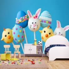 -Custom Photo Wallpaper Cute 3D Cartoon Animals Colored Candy Kids Room Bedroom Backdrop Wall Decoration Mural Sticker Wallpaper on JD