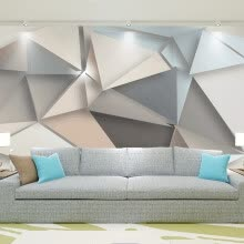-Custom Photo Wall Paper 3D Modern TV Background Living Room Bedroom Abstract Art Wall Mural Geometric Wall Covering Wallpaper on JD