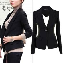 875061819-CANIS@New Women's Lapel Suit One Button Tunic Long Sleeves Blazer Jacket on JD