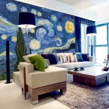 -Custom 3D Photo Wallpaper Classic Oil Painting Starry Sky Abstract Art Wall Painting Living Room Background Home Decor Mural on JD