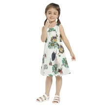 -Girls Summer Dress 2018 New Arrival Casual Sleeeveless Dresses For Girls Cotton Loose Print Floral Dress Hot Sale on JD
