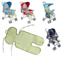 slipcovers-seat-cushion-NicerDicer New Summer Stroller Trolley Buggy Mat Baby Flax Plant Fiber Stroller Mats Flower 96536 on JD