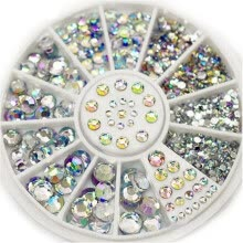 3d-nail-decals-3D Nail Art AB Rhinestones Glitter Nails Crystals Gems Crystal Decoration Manicure Wheel Mixed Size Diamonds for Nail Beauty on JD