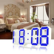 -3D LED Digital Alarm Clocks 24 / 12 Hours Display 3 Brightness Levels Dimmable Nightlight Snooze Function for Home Kitchen Office on JD
