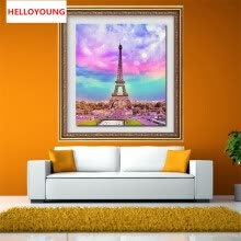 -DIY 5D Full Diamond Mosaic Diamonds Embroidery The Eiffel Tower Square Diamond Painting Cross Stitch Kit Home Decoration on JD