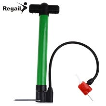 87505-Regail Mini Portable Inflator with Two Needle Adapters High Pressure Bicycle Basketball Football Pump on JD