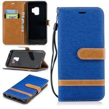 -BEFOSPEY Mixed Colors Denim PU Leather+Soft TPU Card Slot Stand Wallet Case For Samsung Galaxy S9(2018)(5.8') on JD
