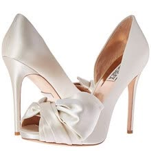 -Peep Toe High Heel Satin Wedding Shoes on JD