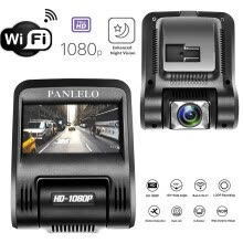 -Car Dash Cam, Panlelo D1 WiFi Car Camcorder Vehicle Camera HD 1080P Car DVR 170° Wide Angle Auto Video Recorder Starlight Night on JD