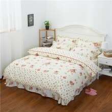 8750203-Korean version of the cotton four-piece bedding sheets quilt cover pillowcase on JD