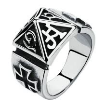 875062457-Yoursfs® Unique Stainless Steel Mens Print Punk Ring Classic 316L Titanium Steel Vintage Fashion Jewelry on JD