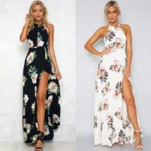 -Women Maxi Boho Floral Summer Beach Long Skirts Evening Cocktail Party Dress on JD