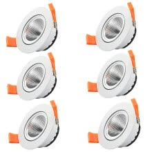 spot-lamps-6pcs/lot 3W Warm White Dimmable LED COB chip downlight dimmer Recessed white led lamp epistar LED Ceiling light Spot Light ceiling on JD