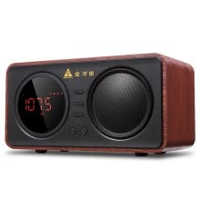-Golden Field D30 Bluetooth Speaker Wireless Computer Subwoofer Audio Mobile Car Player Outdoor Portable Card Mini Sound Red Wood Grain on JD