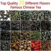 -20 Different Flavors Organic Chinese Tea Includes Milk Oolong Puer Herbal Flower Black Green Tea Help Slimming Healthy Gift premiu on JD