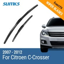 -SUMKS Wiper Blades for Citroen C-Crosser 24'&20' Fit Hook Arms 2007 2008 2009 2010 2011 2012 on JD