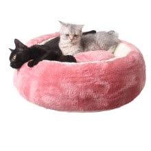8750208-Pet Dog Cat Luxury Candy Color Cake Super Thick And Shoft Velet Bed on JD