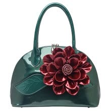 875062576-Handbags Handbags Flower Shell Bag Korean Bright Leather Single Shoulder Span on JD