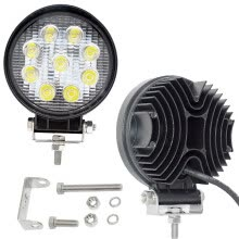 875063308-Led Phare,JieHe Phare de Travail à Led 27W Feux Additionnels Phare de Travail à Led Feux Led Moto Led Work Light  [Classe én on JD