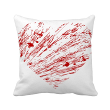 -Heart Red Valentine's Day  Drip Square Throw Pillow Insert Cushion Cover Home Sofa Decor Gift on JD