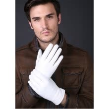 gloves-mittens-Svadilfari 2018 Fashion Special Offer Genuine Leather White Gloves man Solid Wrist Buttons Lambskin Driving Glove on JD
