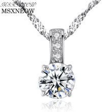 necklaces-pendants-MSXNEOW 925 Sterling-Silver Pendants Necklace for Women Fine Jewelry Christmas Gift Engagement Silver Jewelry for Women SN0042 on JD