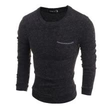 875061884-Zogaa New Men's Knitwear Pure Cotton Slim Long Sleeve Round Collar on JD
