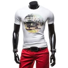 875061884-Zogaa New Men's T-shirt Short Sleeve Printing Slim Fashion on JD
