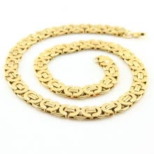 -Hpolw Gold Plated Men Necklace and Bracelet Set Necklace Stainless Steel 316l on JD