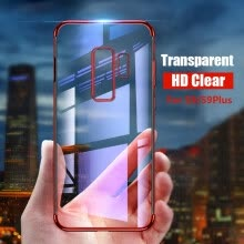 -For S9 plus Case Soft TPU Plating Cover for Samsung S9 case Silm Clear Transparent case for samsung galaxy S8 S9 S7 S6 phone case on JD