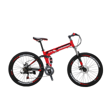 8750504-Eurobike G4 26' Folding Mountain Bike SHimano 21 Speed Full Suspension Bicycle Daul Disc Brakes MTB on JD