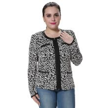 suiting-blazers-POPBASIC Womens Skinny Snow Leopard Long Sleeve Shoulder Pad Outfit Blazer Jacket on JD