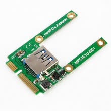 -Mini PCI-E Card Slot Expansion to USB 2.0 Interface Adapter Riser Card Green on JD
