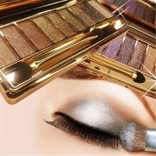 875062531-NEW 9 Colors Shimmer Eyeshadow Palette & Makeup Cosmetic Brush Set on JD