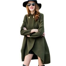-BURDULLY Autumn Army Green Coat Women Winter Loose Wool Coats For Ladies 2018 New Overcoat High Quality Elegant Woolen Casacos on JD