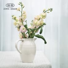 8750202-Jia Yi European Ceramic Vase Decoration Living Room Insert Vase Table Decoration Modern Simple White Small Vase Medium on JD