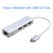 -Type C Hub USB Hub with Type-c Port to Network Wire Port and 3 USB 3.0 Port Fast Transfer Data Charging etc on JD