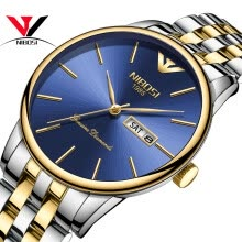 -Saat NIBOSI Business Ultra Thin Men's Watches 2018 Top Brand Luxury Quartz Stainless Steel Watches Men Fashion Calendar Date Week on JD