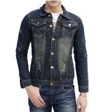 -Zogaa New Men's Jacket Jeans Wear Washing on JD